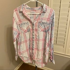 Cotton On Nordstrom button down distressed XS